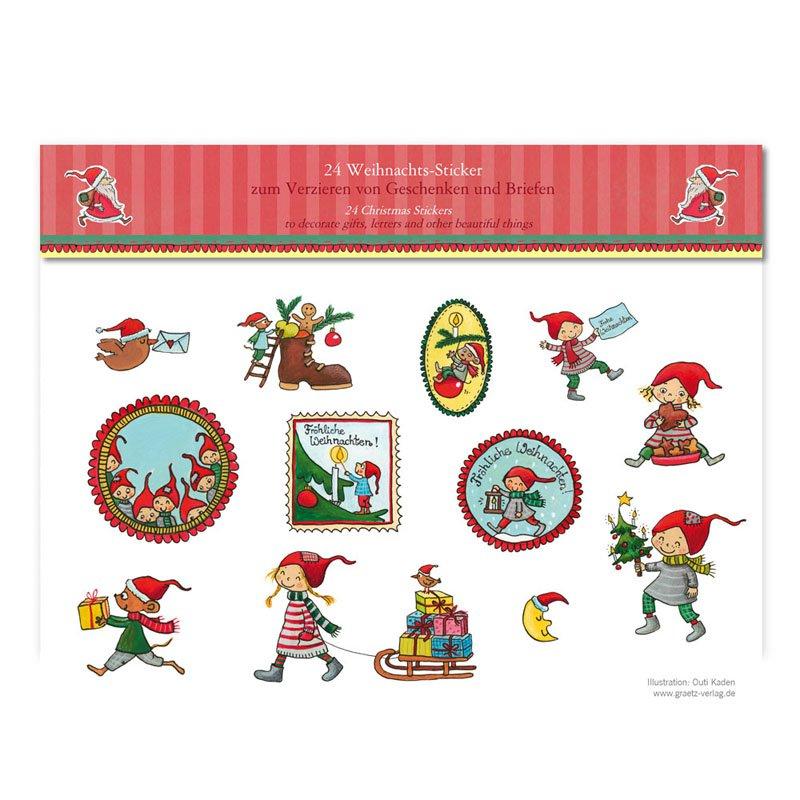 Aufkleber weihnachtspost gr tz verlag - Bilder weihnachtspost ...