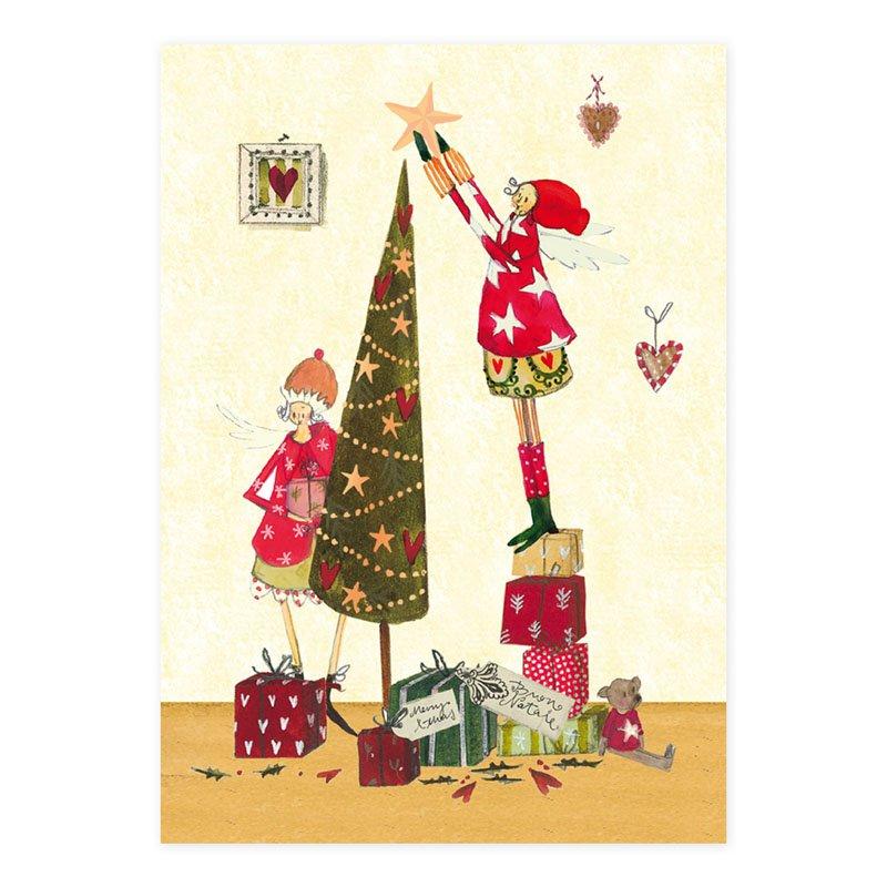 weihnachtspostkarte christbaum schm cken gr tz verlag. Black Bedroom Furniture Sets. Home Design Ideas