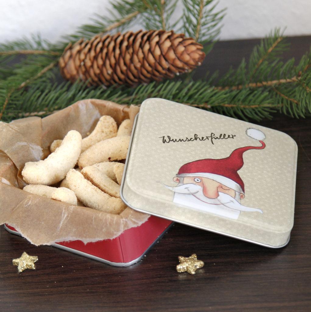 Metall Geschenkdose mit Weihnachtsdekoration zum nachhaltigen Verpacken aus dem Grätz Verlag