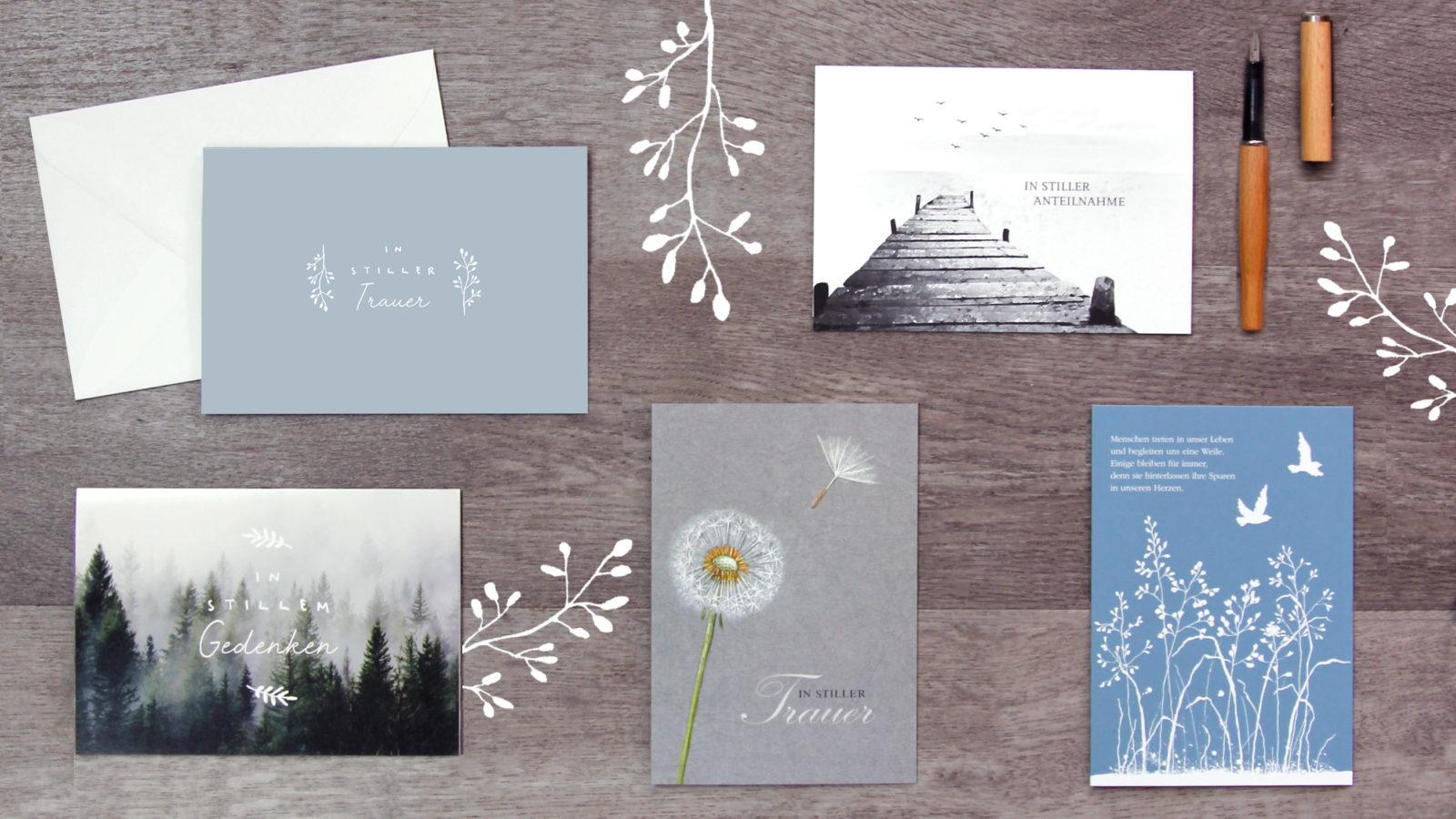 Inspirationen für deine Trauerkarte