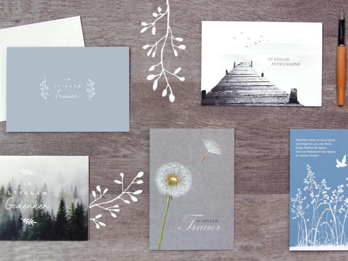 Anregungen zum Schreiben von Trauerkarten