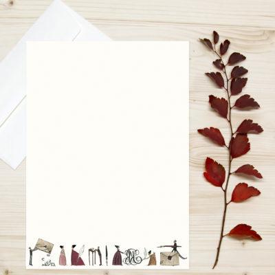 florales Briefpapier Illustration Silke Leffler Grätz Verlag