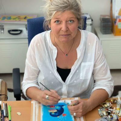 Illustratorin Annet Rudolph im Grätz Verlag