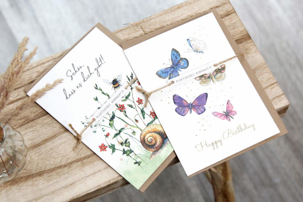 Plastikfreie Karten von Daniela Drescher