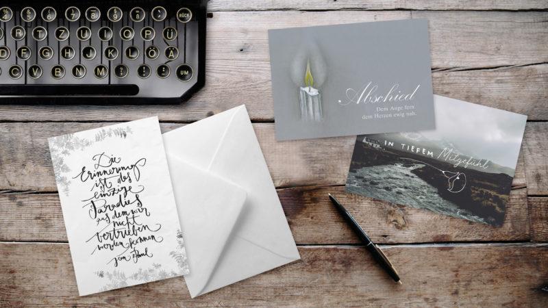 Texthilfen für Beileidskarten – Sprüche, Gedichte und religiöse Texte