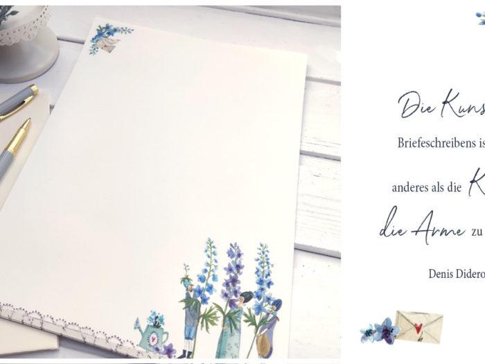 Schöne Briefe schreiben auf schönem Briefpapier