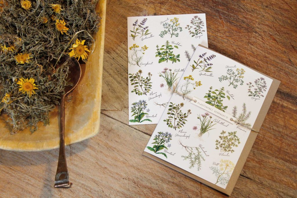 Grußkarten Kräutergarten Papeterie aus dem Grätzverlag