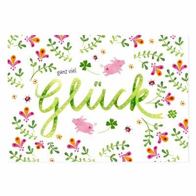 Postkarte Ganz Viel Glück 105