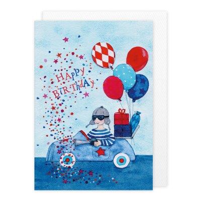 Doppelkarte Geburtstags Auto 2 50