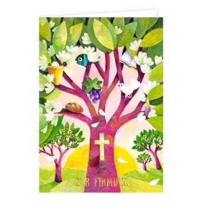 Firmung Karte.Firmungskarte Lebensbaum