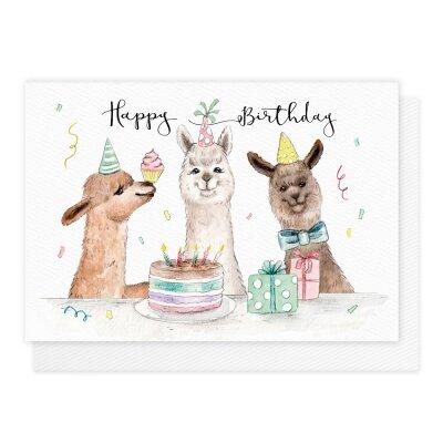 Geburtstagskarte Alpaka 2 50