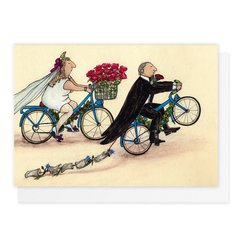 Klappkarte Bike-Wedding