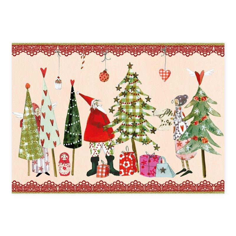 weihnachtspostkarte am weihnachtsbaume 1 05. Black Bedroom Furniture Sets. Home Design Ideas