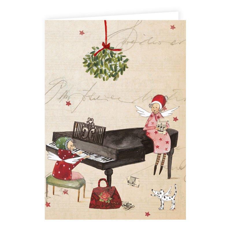 weihnachtskarte mit klavierfl gel 2 50. Black Bedroom Furniture Sets. Home Design Ideas